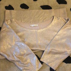 Champagne metallic sweater